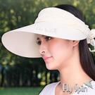 防曬帽子-女款亞麻棉蕾絲寬帽眉遮陽兩種戴法淑女遮陽帽休閒帽空心帽13SS-V070 FLY SPIN