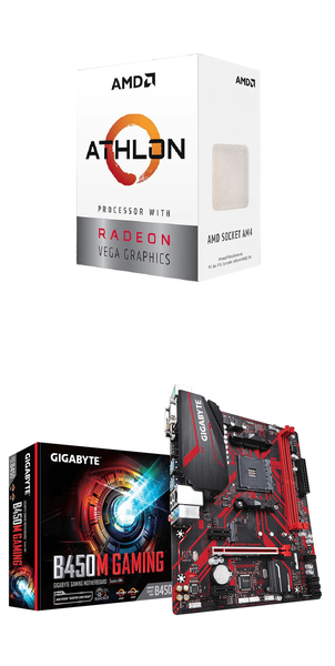 (AMD 3000G組合)AMD Athlon-3000G+技嘉B450M GAMING