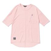 MIZUNO 女裝 短袖 七分袖 1906 胸前拉鍊口袋 下擺開岔 粉紅【運動世界】D2TA120166