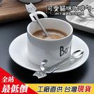 不銹鋼貓咪咖啡勺 杯緣貓 湯匙 【B663】【熊大碗福利社】