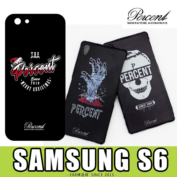 E68精品館 台灣品牌 三星 SAMSUNG S6 PERCENT 彩繪設計背蓋硬殼保護套手機套手機殼保護殼 G920