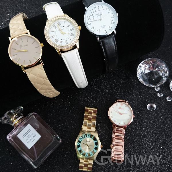 【R】皮革 鏈帶 流行錶款 時尚好搭 簡約 機械錶盤造型 潮錶 圓形錶盤 大圓 手錶
