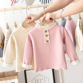 女童打底衫2020新款兒童秋冬裝套頭衫圓領女寶寶上衣冬款加絨加厚