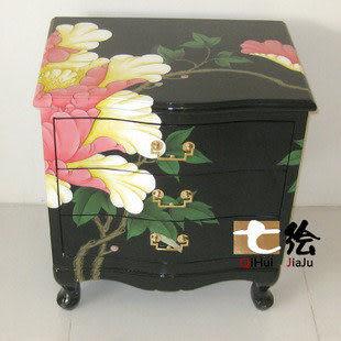 漆器手彩繪 三鬥櫃