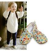 Kinderspel 設計師款‧寬頭柔軟學步鞋 (貓頭鷹麻吉) (L:1歲以上)