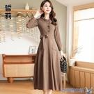 洋裝 棉麻洋裝收腰秋裝年新款流行時尚顯瘦...
