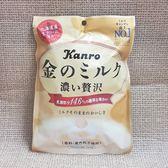 (日本) KANRO 甘樂北海道金牛奶糖 1包 80公克【4901351013397】(甘樂金色牛奶糖 金色特濃牛奶糖)