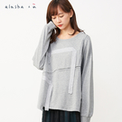 a la sha+a  個性寬織帶裝飾上衣