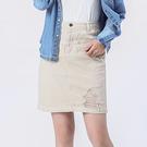 Victoria 割破中腰包臀及膝裙-卡其-V90089