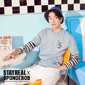 STAYREAL x SpongeBob 啾咪珊迪定番T