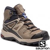 【SALOMON 法國】女 X RADIANT GTX 中筒登山鞋『繩索棕 復古 卡其絲絨』406746 多功能鞋.健行鞋.登山鞋