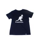 KANGOL 童裝 短袖 深藍色 袋鼠大LOGO 6126500180 noG36