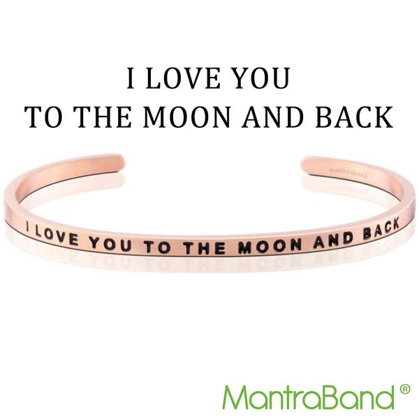 Mantraband   I LOVE YOU TO THE MOON AND BACK 我愛你到天荒地老 - 悄悄話玫瑰金手環 台灣官方總代理