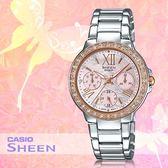 CASIO 卡西歐 手錶專賣店 SHE-3052SG-4A女錶 不鏽鋼錶帶  三眼 防水 羅馬數字