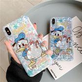 【SZ25】貝殼紋卡通唐老鴨鬆鼠 iphone XS MAX手機殼 iphone XR XS手機殼 iphone8plus手機殼 iphone 6s plus手機殼