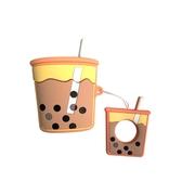 珍珠奶茶airpods保護套收納蘋果無線藍牙耳機殼硅膠盒【英賽德3C數碼館】