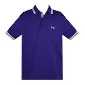 【南紡購物中心】HUGO BOSS 經典標誌配色男款POLO衫-深紫