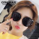 大框貓眼女士太陽鏡韓國黑超墨鏡復古太陽眼鏡新品(送拉鏈盒)