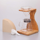 金時代書香咖啡 HARIO V60玻璃濾杯木架咖啡壺組 2~5杯 VSS-1206-OV