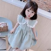 女童連身裙夏裝兒童裙子韓版女孩翻領公主裙【時尚大衣櫥】