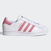 Adidas Superstar 女鞋 休閒 貝殼頭 皮革 金標 後跟拚色三葉草 白【運動世界】FX5964
