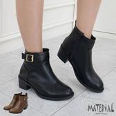 短靴 側金屬雙扣後拉鍊短靴 MA女鞋 T7802