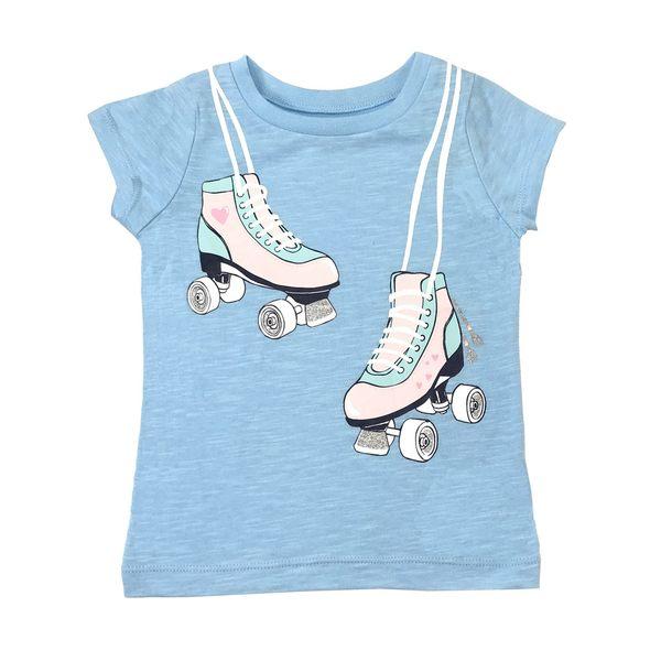 Carter s 短袖上衣 T恤 純棉藍溜冰鞋 小女童【CA253G933】