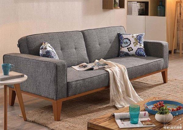 8號店鋪 森寶藝品傢俱 a-01 品味生活 沙發系列  722-1 保羅沙發床(附抱枕2個)