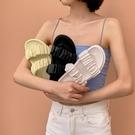 手工女鞋35~42 2020歐美明星款舒適一字帶拖鞋~3色