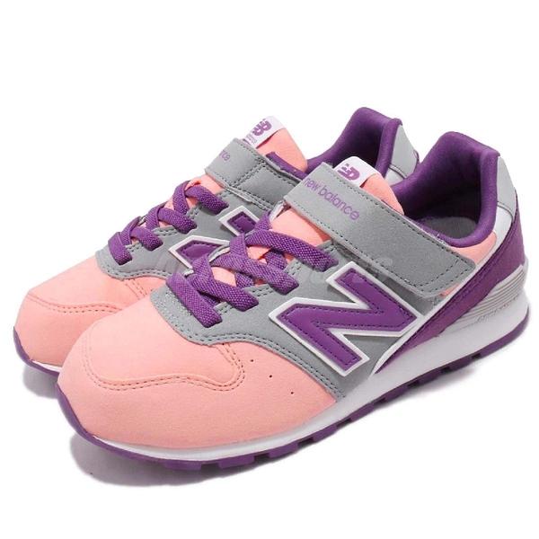 New Balance 慢跑鞋 996 NB 粉紅 紫 麂皮 魔鬼氈 中童鞋 女鞋【ACS】 KV996PPW