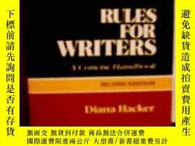 二手書博民逛書店Rules罕見For WritersY362136 Diana Hacker Bedford st Marti