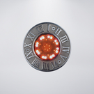 羅馬數字戶外防水地底燈 附LED42粒 旋轉跳閃 附預埋筒