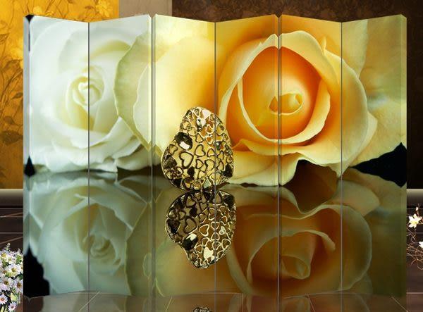 六扇屏風-浪漫玫瑰606