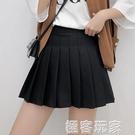 百褶裙短裙高腰黑色半身裙子女a字裙新款半裙蓬蓬裙學生春夏 米希美衣