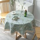 時尚可愛空間餐桌布 茶几布 隔熱墊 鍋墊 杯墊 餐桌巾856 (直徑100cm)