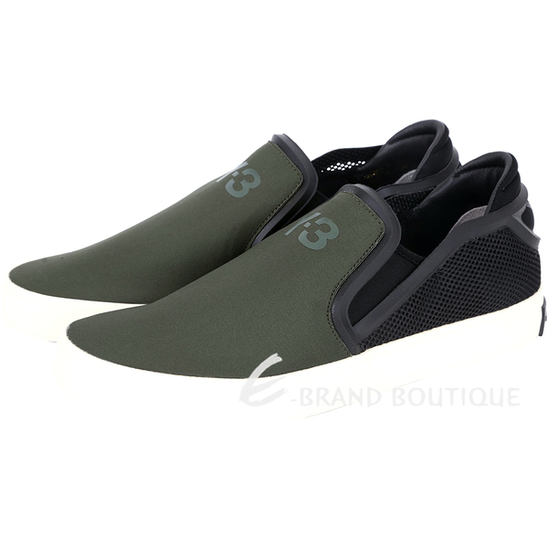 Y-3 LAVER SLIP-ON 撞色拼接休閒便鞋(軍綠色) 1541002-08