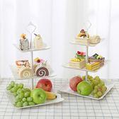 歐式三層水果盤甜品臺多層蛋糕架干果盤 茶點心托盤甜品臺生日趴  ys545『毛菇小象』