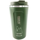 小禮堂 史努比 不鏽鋼隨行杯 隨身瓶 咖啡杯 保溫杯 510ml (深綠 屋頂) 5712977-16383