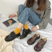 初秋冬季小皮鞋女加厚女系鞋帶日系黑色加絨 英倫風百搭 LR13620【Sweet家居】