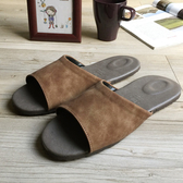 【iSlippers】風格系列-麂皮紋皮質室內拖鞋麂皮紅M