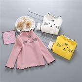 兒童加絨打底衫洋氣寶寶秋裝長袖女童T恤1歲新款上衣蝴蝶結潮 米希美衣