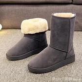 雪靴 2020新款冬季加厚平底學生防滑保暖雪地靴女休閒中筒短靴雪地棉鞋 開春特惠