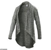 MIZUNO 女裝 外套 罩衫 瑜珈 休閒 吸汗 快乾 透氣 舒適 灰【運動世界】K2TC920505