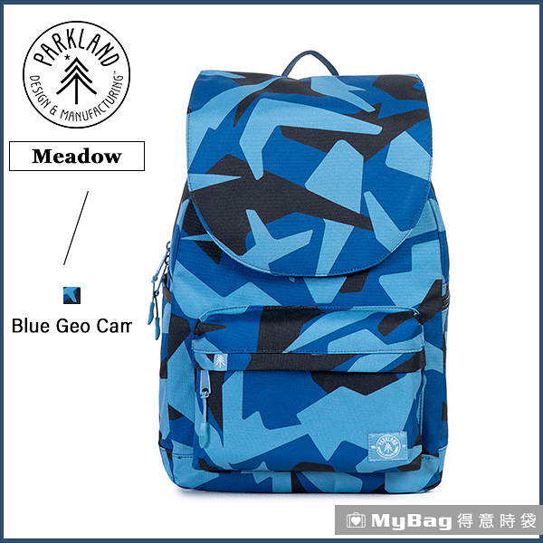 Parkland (by Herschel) 後背包 藍色迷彩 電腦後背包 掀蓋休閒背包 Rushmore-068 得意時袋