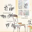 DIY時尚裝飾組合可移動壁貼 牆貼 壁貼 創意壁貼 俏皮貓AM7028【YV0635】BO雜貨