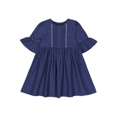 mothercare 海軍藍點點短袖洋裝-草原系列(M0TC214)3、4、6歲