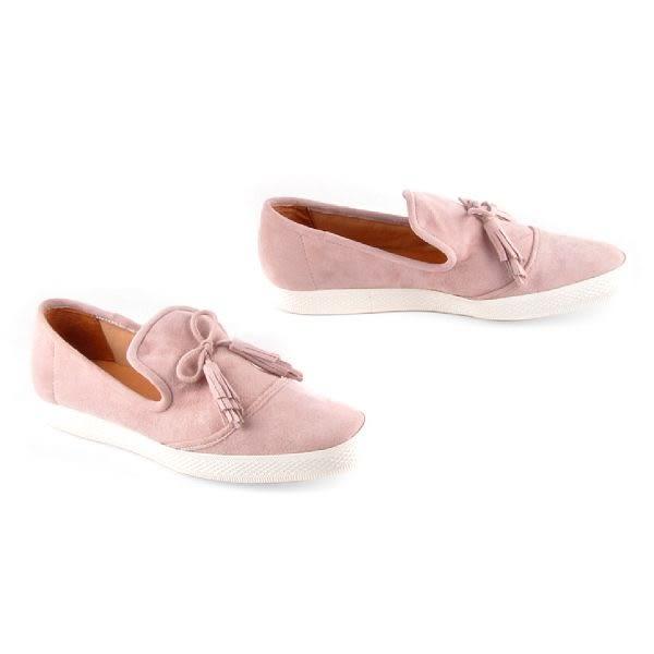 ALL BLACK  甜美蝴蝶結休閒鞋  -粉色