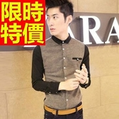 長袖襯衫 男襯衫-熱銷焦點創意學院風透氣隨性2色59k5【巴黎精品】
