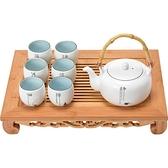 君器禪意日式大茶壺套裝提梁茶壺一壺六杯  自由角落