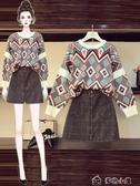 大碼套裝大碼女裝年秋新款初秋網紅胖妹妹上衣女寬松減齡洋氣兩件套裝 多色小屋YXS